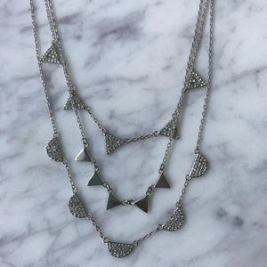 Stella & Dot Pavé Chevron Necklace
